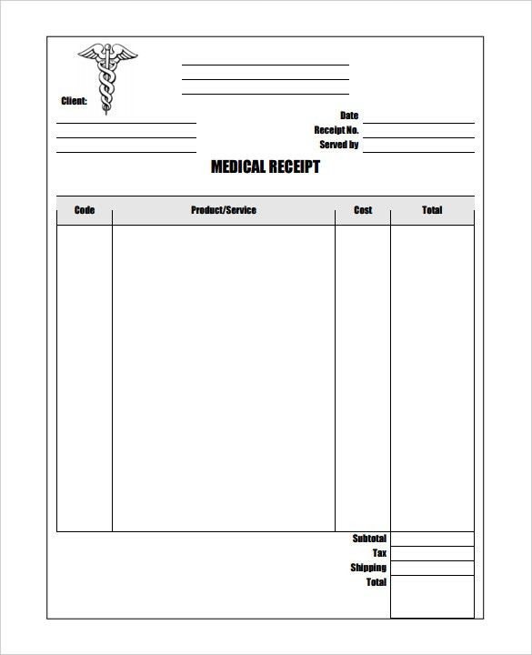 Printable Receipt Form Transmittal Receipt Form Receipt Template