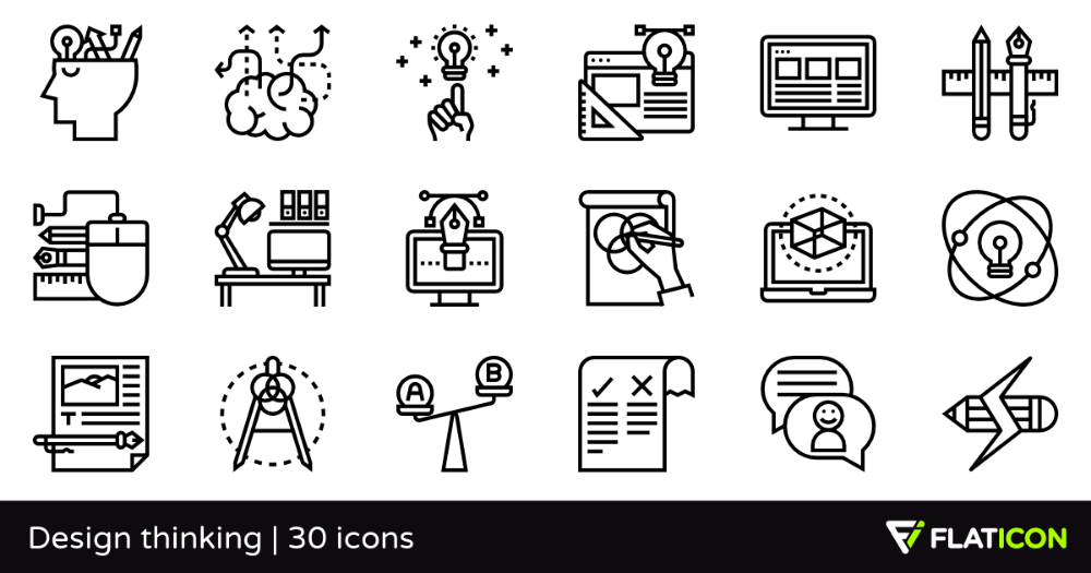 icons that represent designing Google Search Design