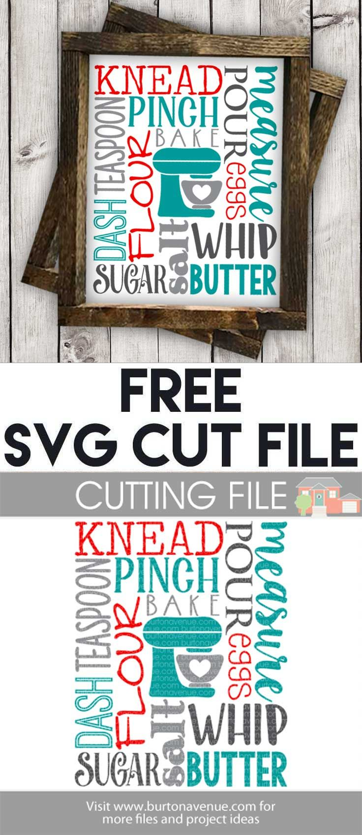 Download Free SVG files for Cricut & Silhouette | Kitchen SVG Files ...