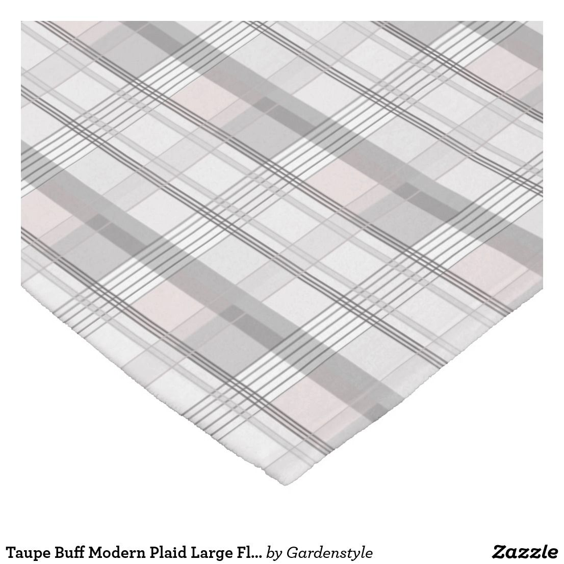 Plaid Taupe Taupe Buff Modern Plaid Large Fleece Blanket Zazzle In 2019