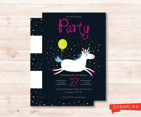Unicorn Invitation with good invitations example