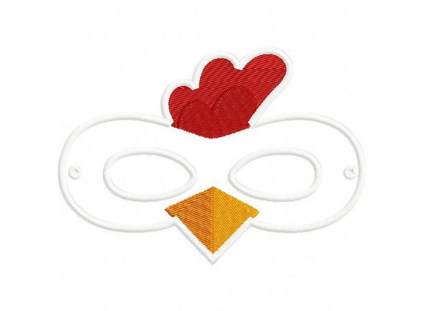 Chicken Mask Leather Template Animal Masks Pretend Play Bunt