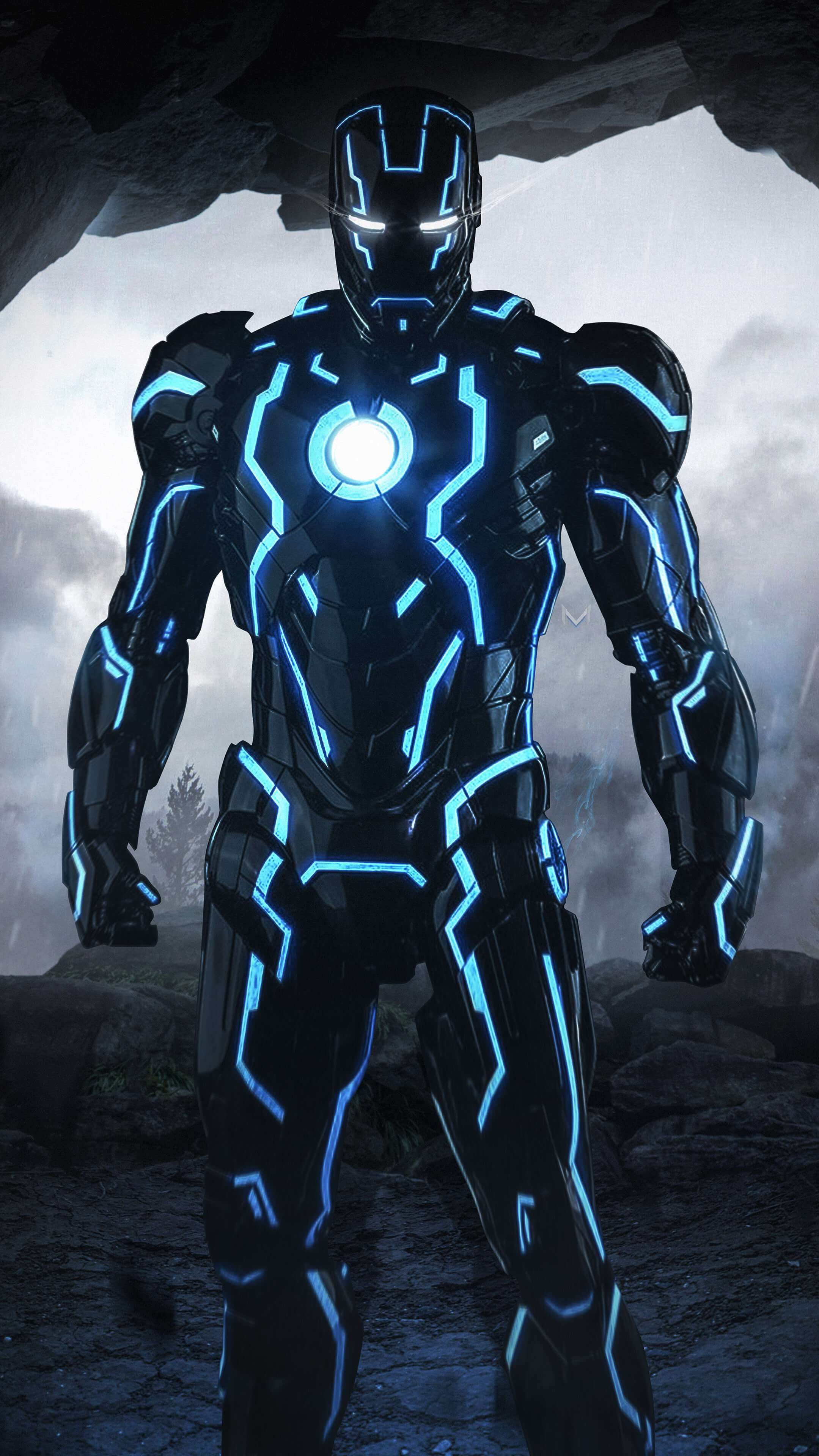 Iron Man Neon Suit Iphone Wallpaper Iron Man Pinterest Iron