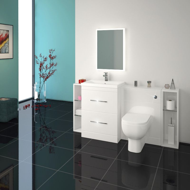 Design A Bathroom Vanity Online Magnificent Patello 1600 Fitted Furniture Bathroom Vanity Set White Buy Online Inspiration Design