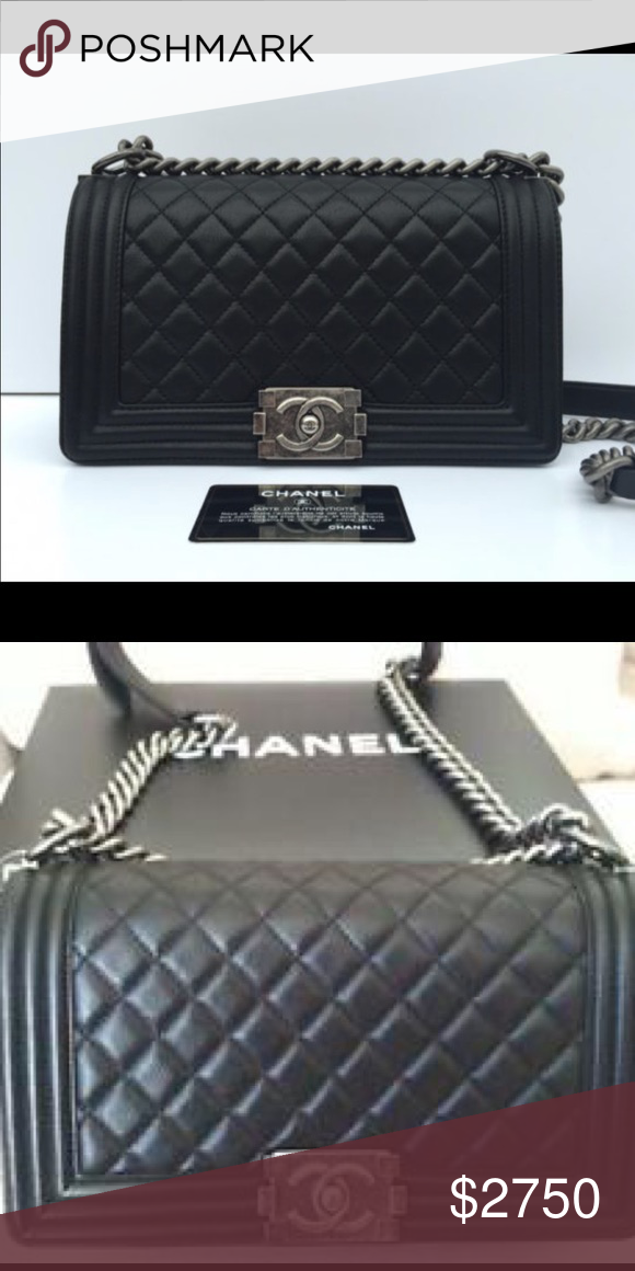 28de13529314 Chanel boy bag Chanel bag boy 100% authentic with card Has been worn few  times Excellent condition CHANEL Bags Shoulder Bags