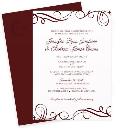Sangria Wedding Invitations: Wedding Invitation Template