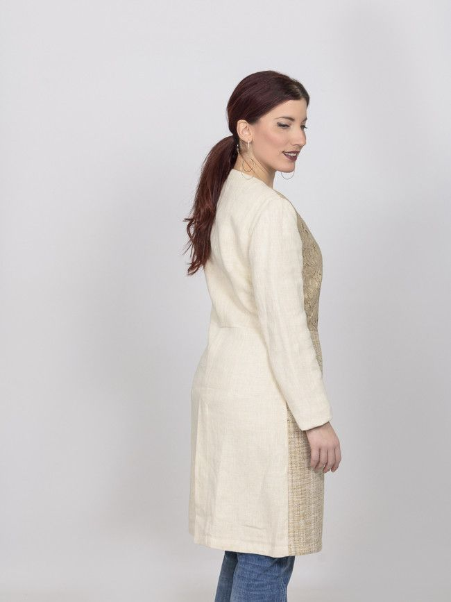 9ec7195d8e Γυναικείο λινό παλτό Steffen Schraut για πιο ιδιαίτερες εμφανίσεις ...