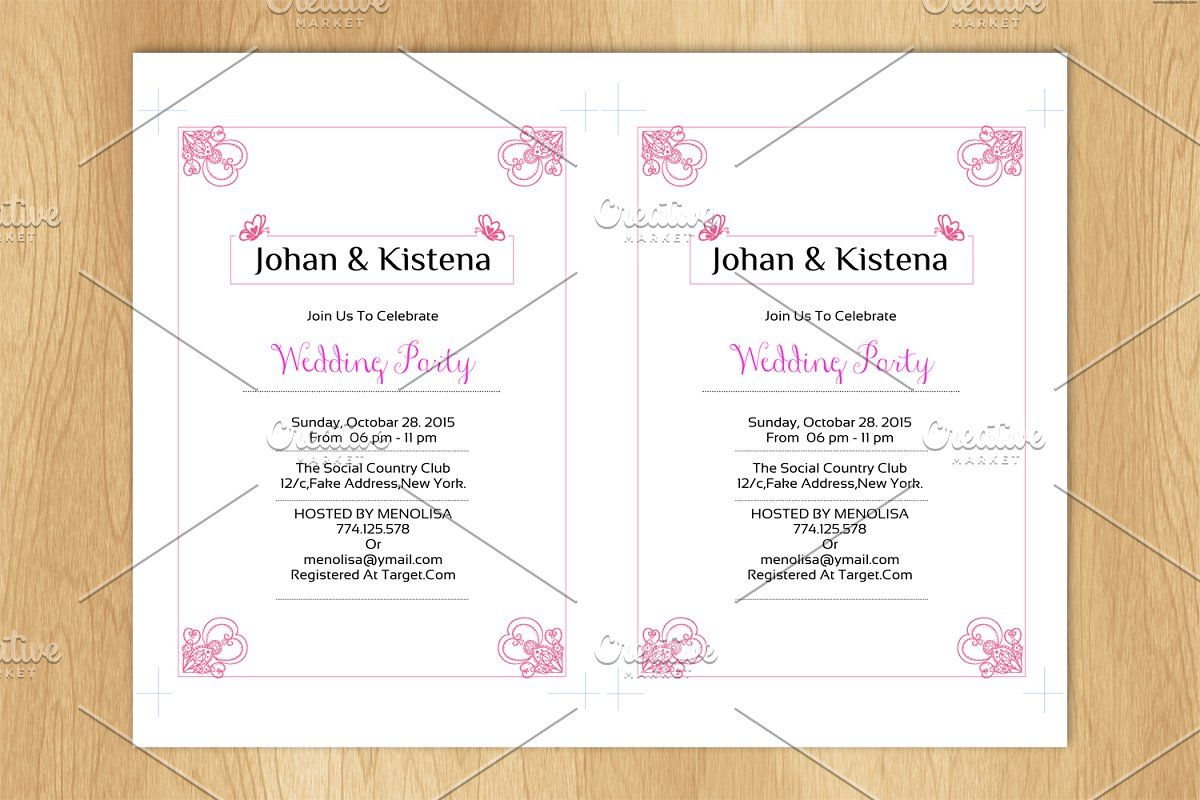 Wedding Invitation Card Template Floral Bridal Shower Invitations Wedding Invitation Card Template Bridal Shower Invitations