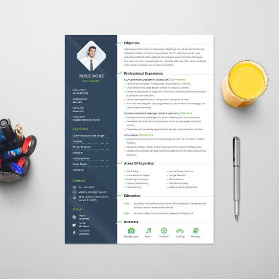 Resume Template With Photo Professional Resume And Creative Cv