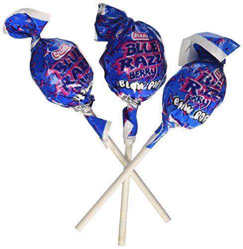 Charms Blue Razzberry Blow Pops Lollipops Quantity 48 Ch