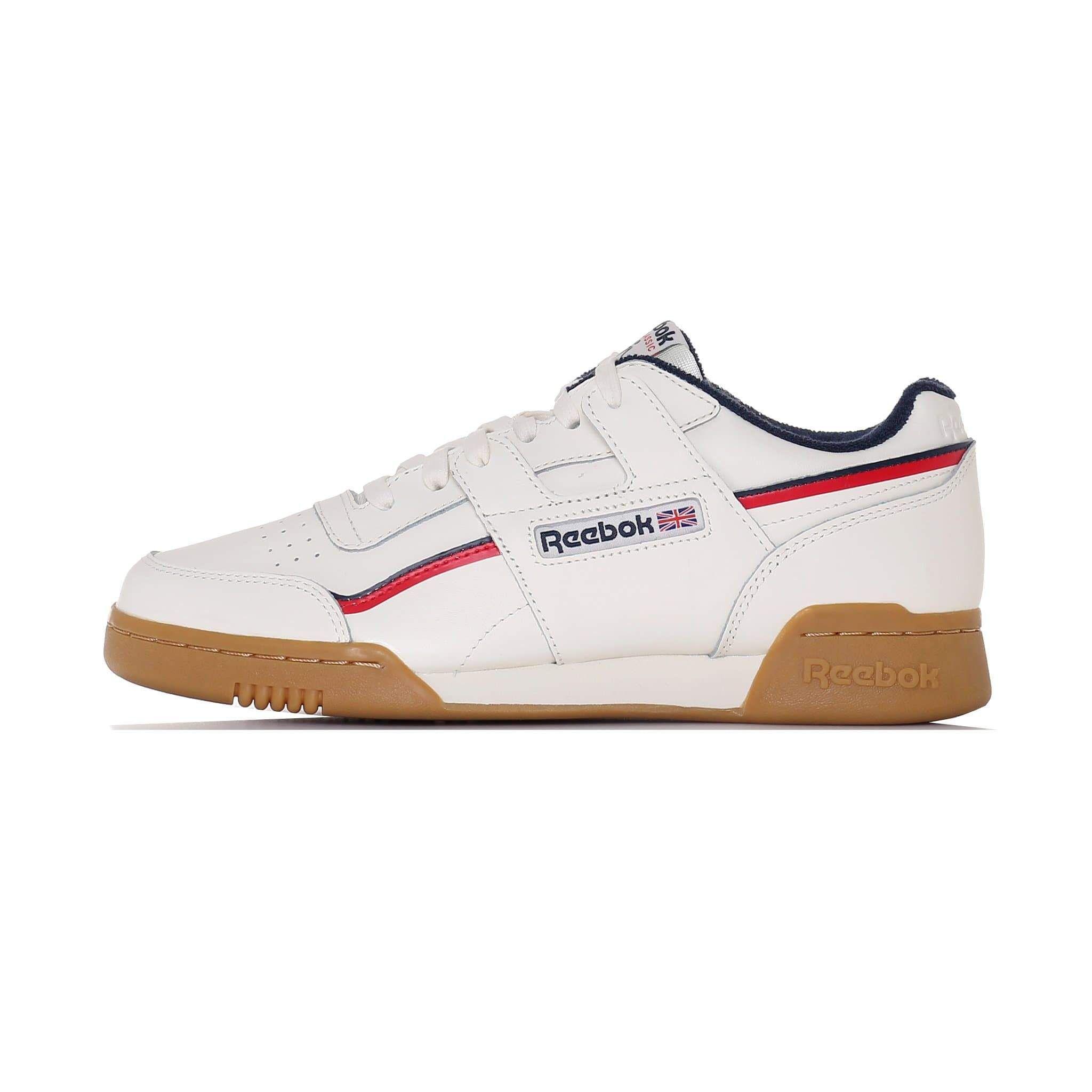 Reebok Workout Plus MU Classic White Navy Red UK 10