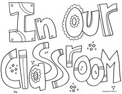 Classroom Expectation Coloring Sheets
