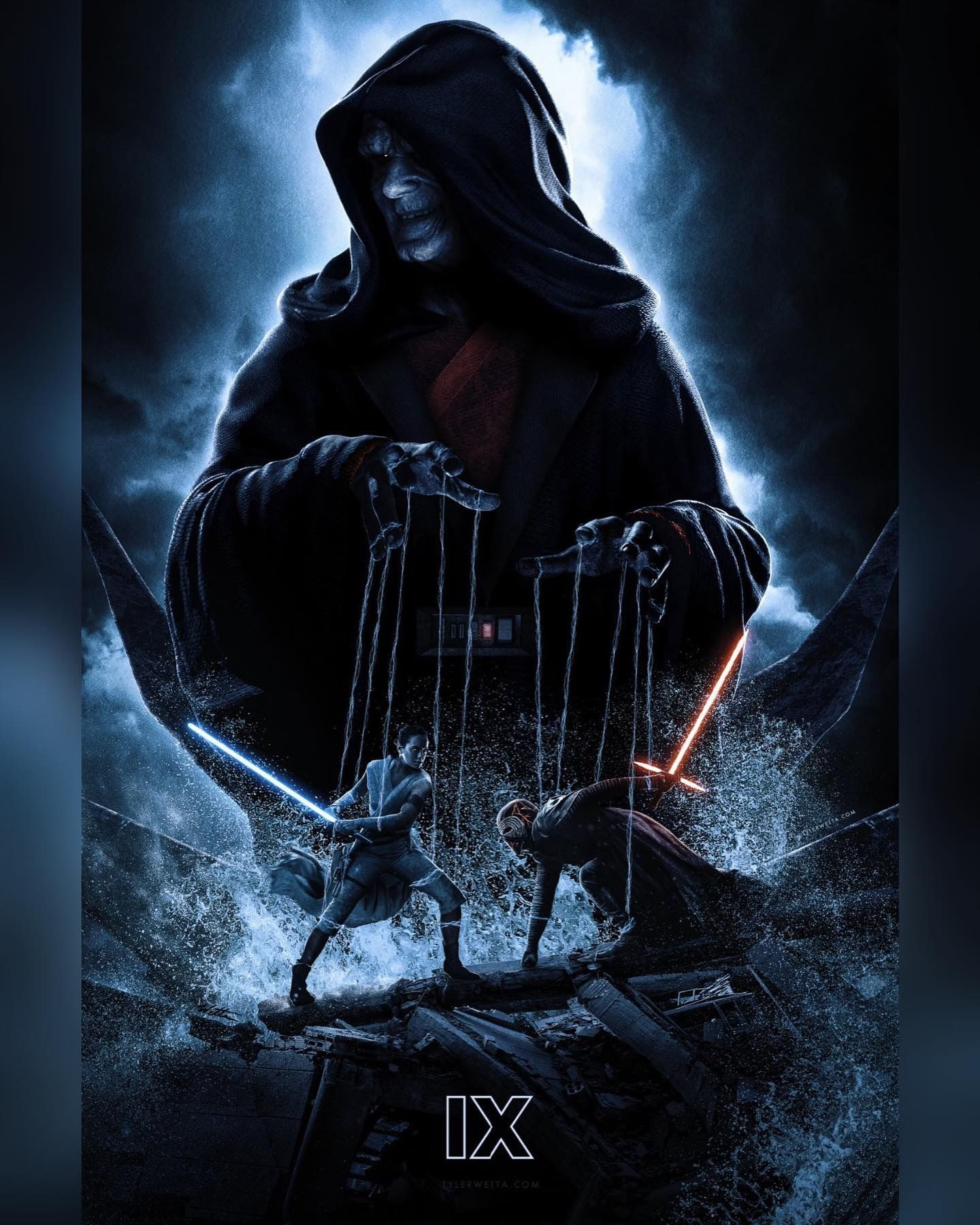 Palpatine Puppet Master The Rise Of Skywalker In 2020 Star Wars Movies Posters Star Wars Images Star Wars Poster