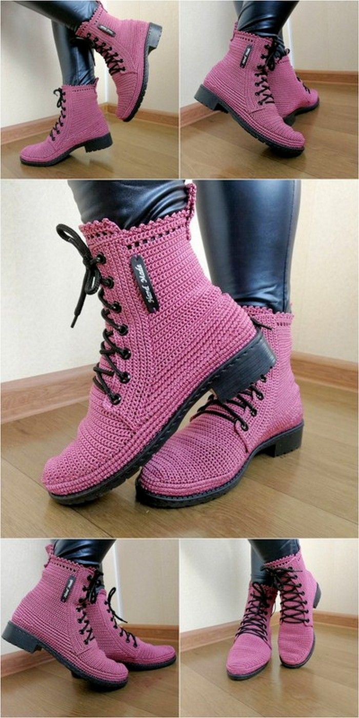 30+ Best Crochet Shoes And Boot Designs