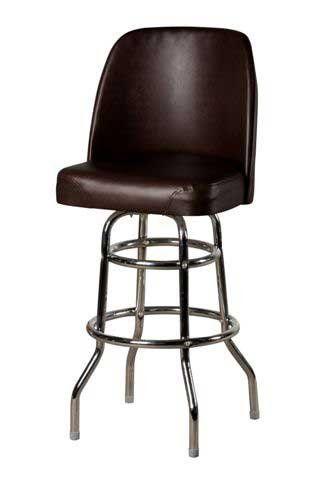Oak Street Swivel Bar Stool Upholstered Premium Bucket Seat 4° Steel Ball  Bearing Swivel Espresso