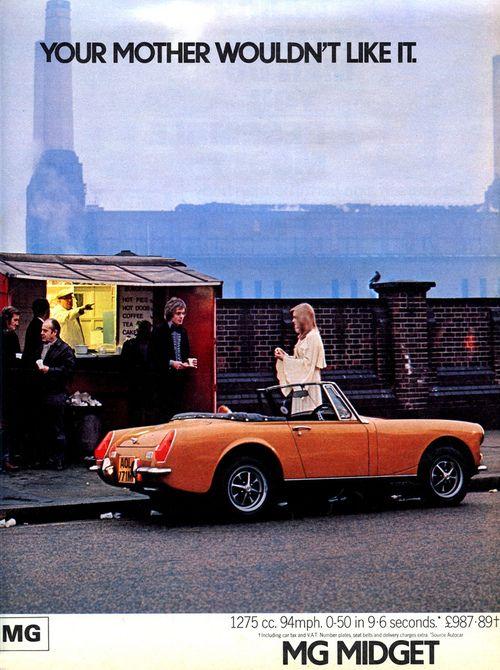 1977 MG Midget Ad | Mg midget, Car ads, Mg cars