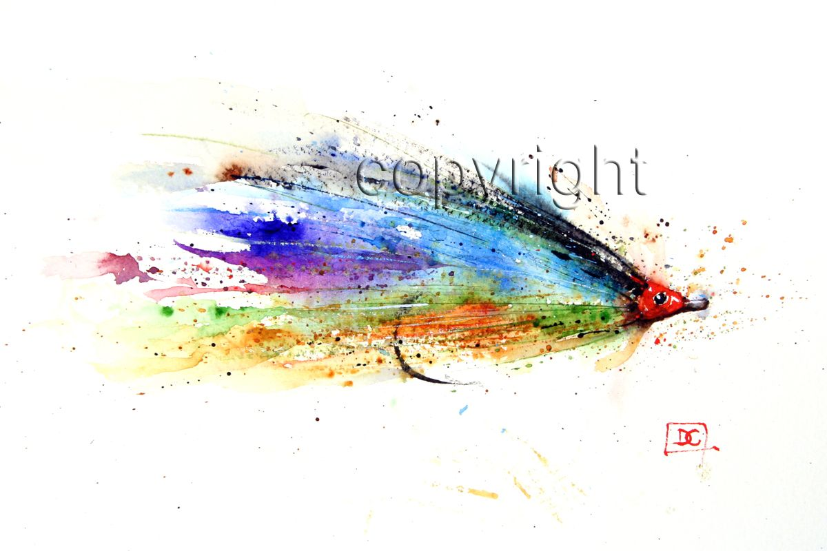 Tarpon Fly Watercolor Fish Fish Art Flying Tattoo