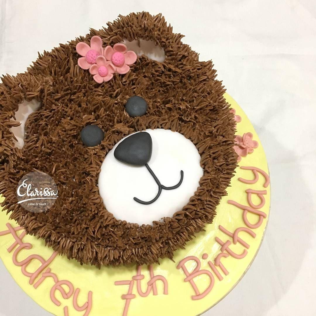 teddy bear cake buttercream birthday pinterest teddy