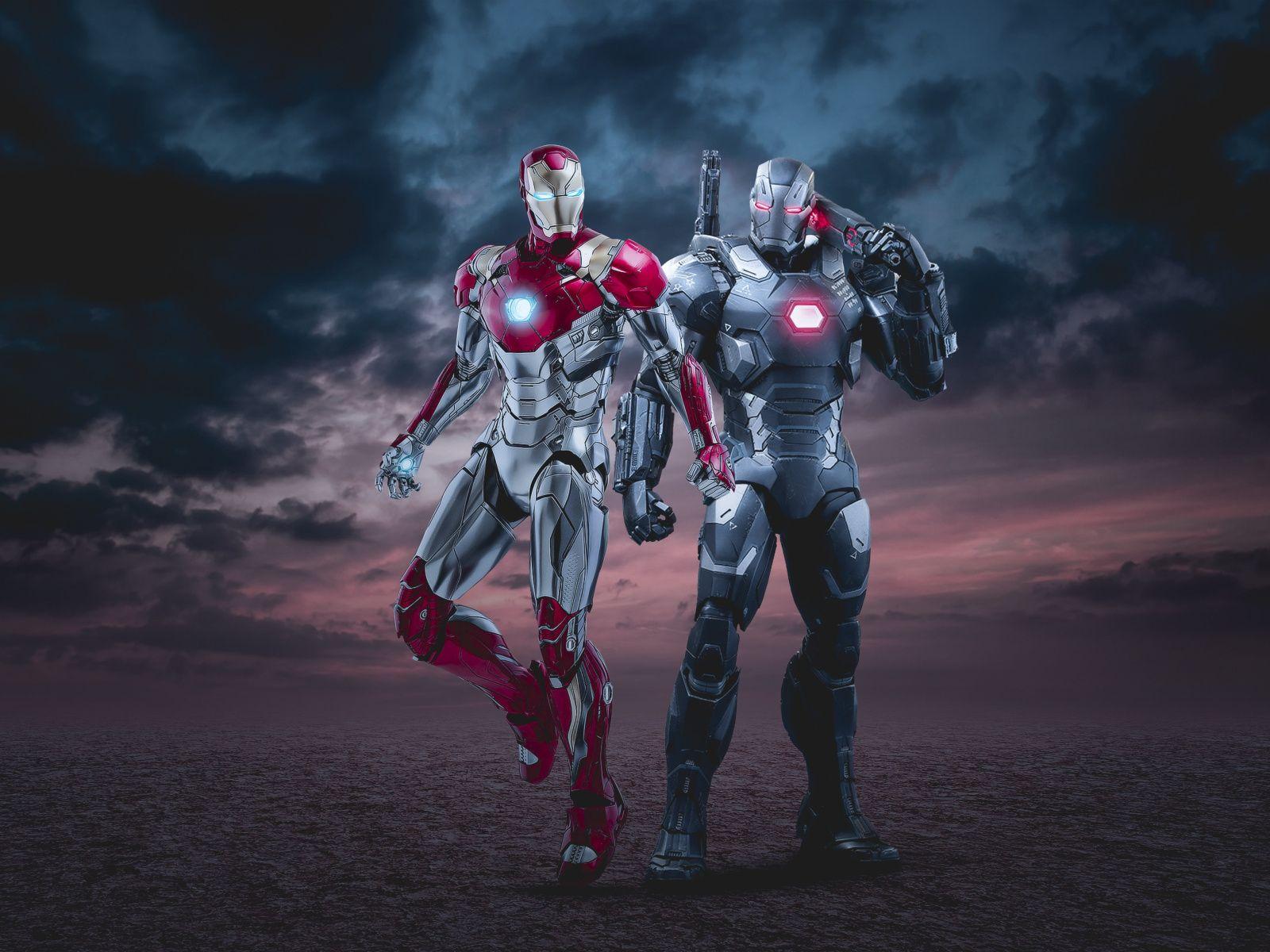 Download 1600x1200 Wallpaper War Machine And Iron Man Marvel Superheroes Art Standard 4 3 Fullscreen War Machine Wallpaper Iron Man Wallpapers War Machine