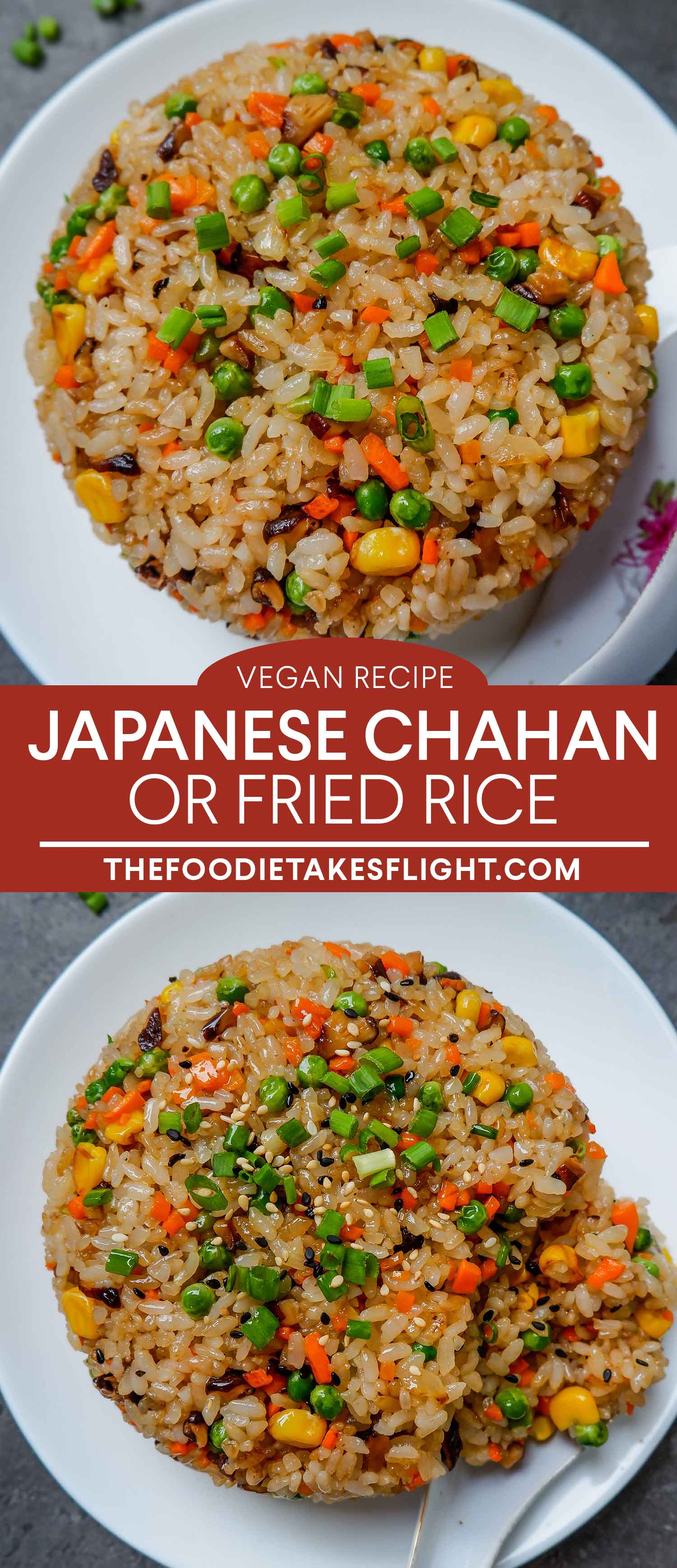 Japanese Chahan Or Fried Rice Vegan Recipe Recipe Vegan Japanese Food Rice Recipes Vegan Fried Rice