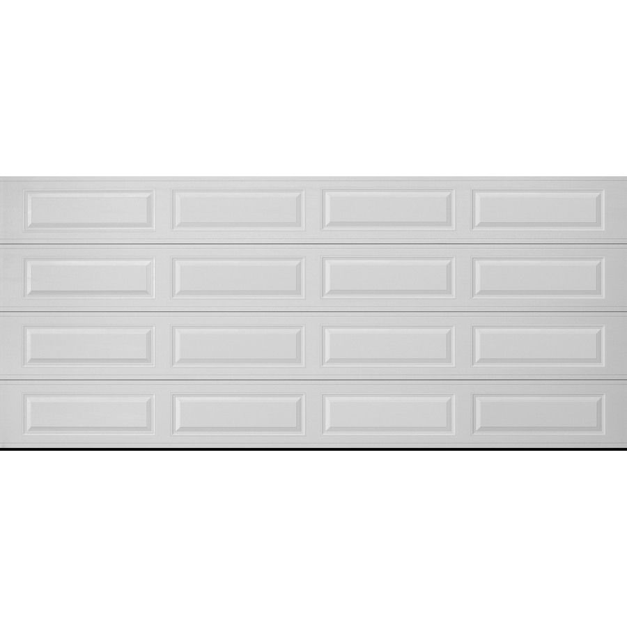 Pella Traditional 192 In X 84 In Insulated White Double Garage Door 123490 In 2020 Garage Doors Double Garage Door Double Garage