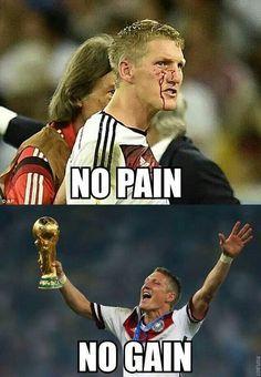 Alemanha · No pain No gain. Bastian Schweinsteiger 4363920d6be2b