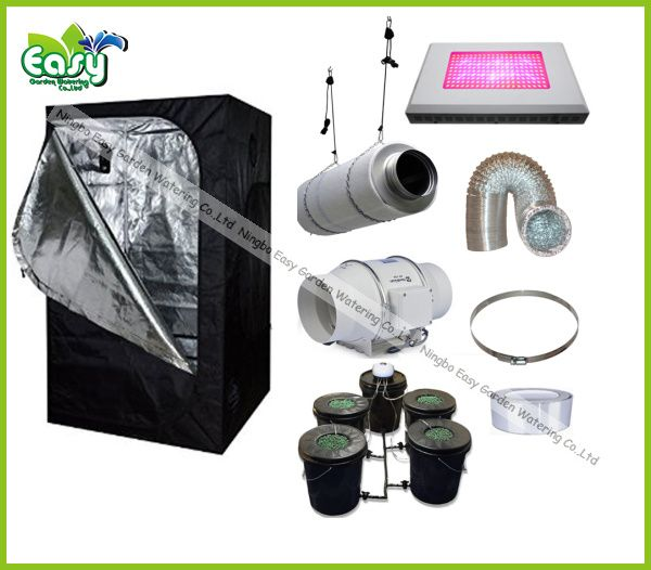 Hydropoinics Complete indoor grow tent kits 150X150X200cm with DWC bucket LED grow light and ventilation  sc 1 st  Pinterest & Hydropoinics Complete indoor grow tent kits 150X150X200cm with DWC ...