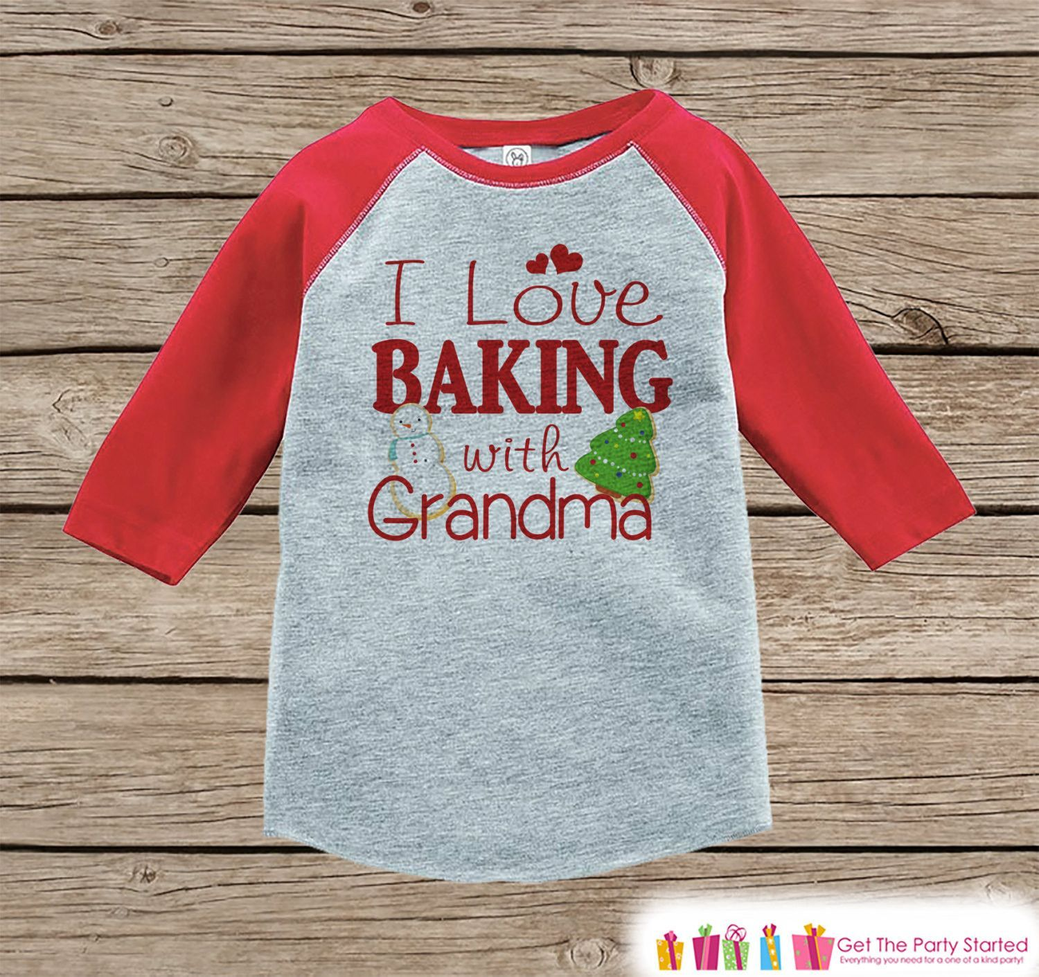 Kids Christmas Outfit - Baking With Grandma Holiday Outfit ...