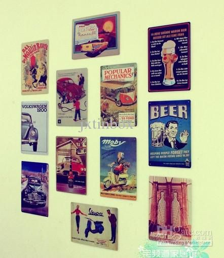 HOT SALE Nostalgic Beer Car Poster Vintage Metal Tin Sign Decor ...