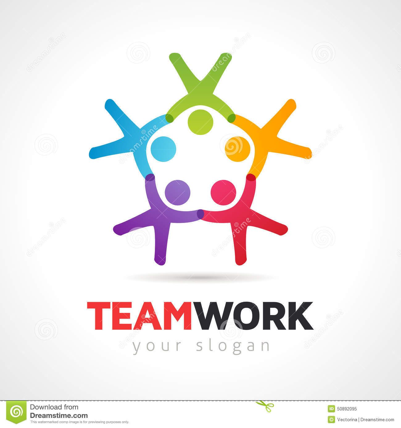 Teamwork Concept People Symbol Vector Logo Template | logotipos ...