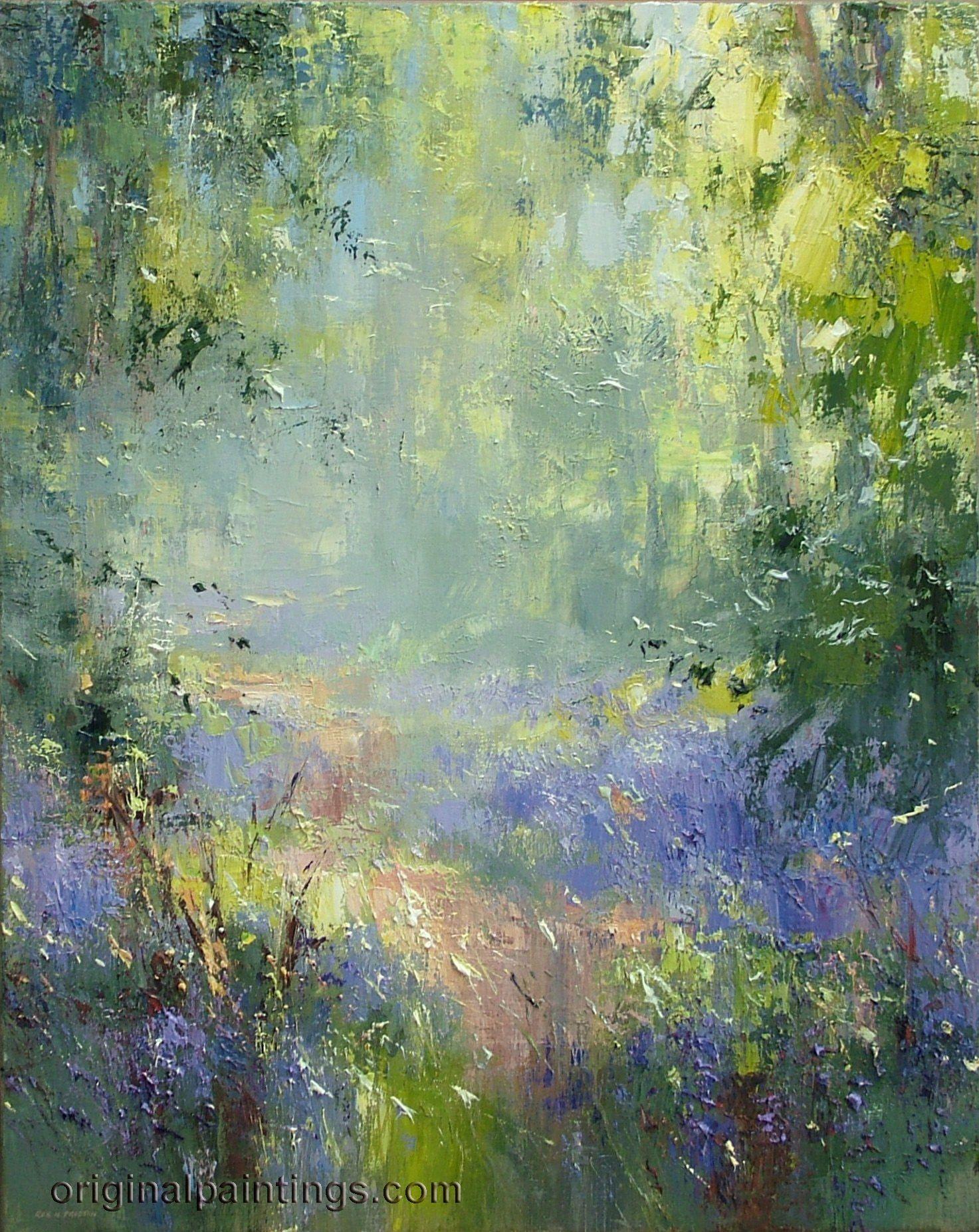 Rex Preston Spring Woodland Impressionist Art Abstract Art Landscape Art