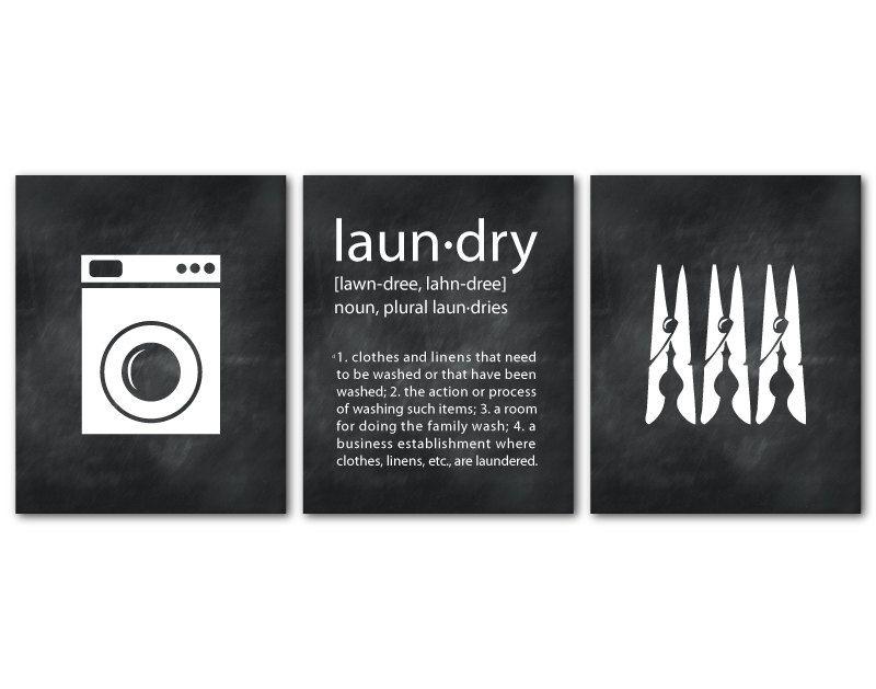 Laundry Room Art Wall Art Trio Laundry Symbols Laundry