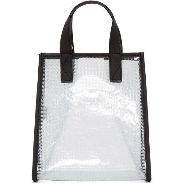 Kenzo Clear Vinyl Tiger Tote White Tote Bag Tote Clear Handbags
