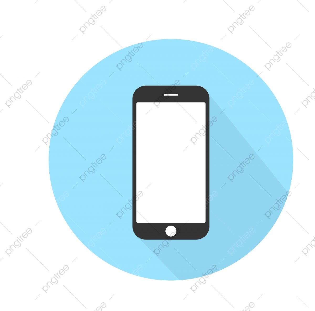 Icone De Telephone Portable Sur Un Fond Bleu Smartphone Telephone Iphone Sur Illustration Vectorielle Fond Blanc Telephone Iphone Illustration Vectorielle Iphone