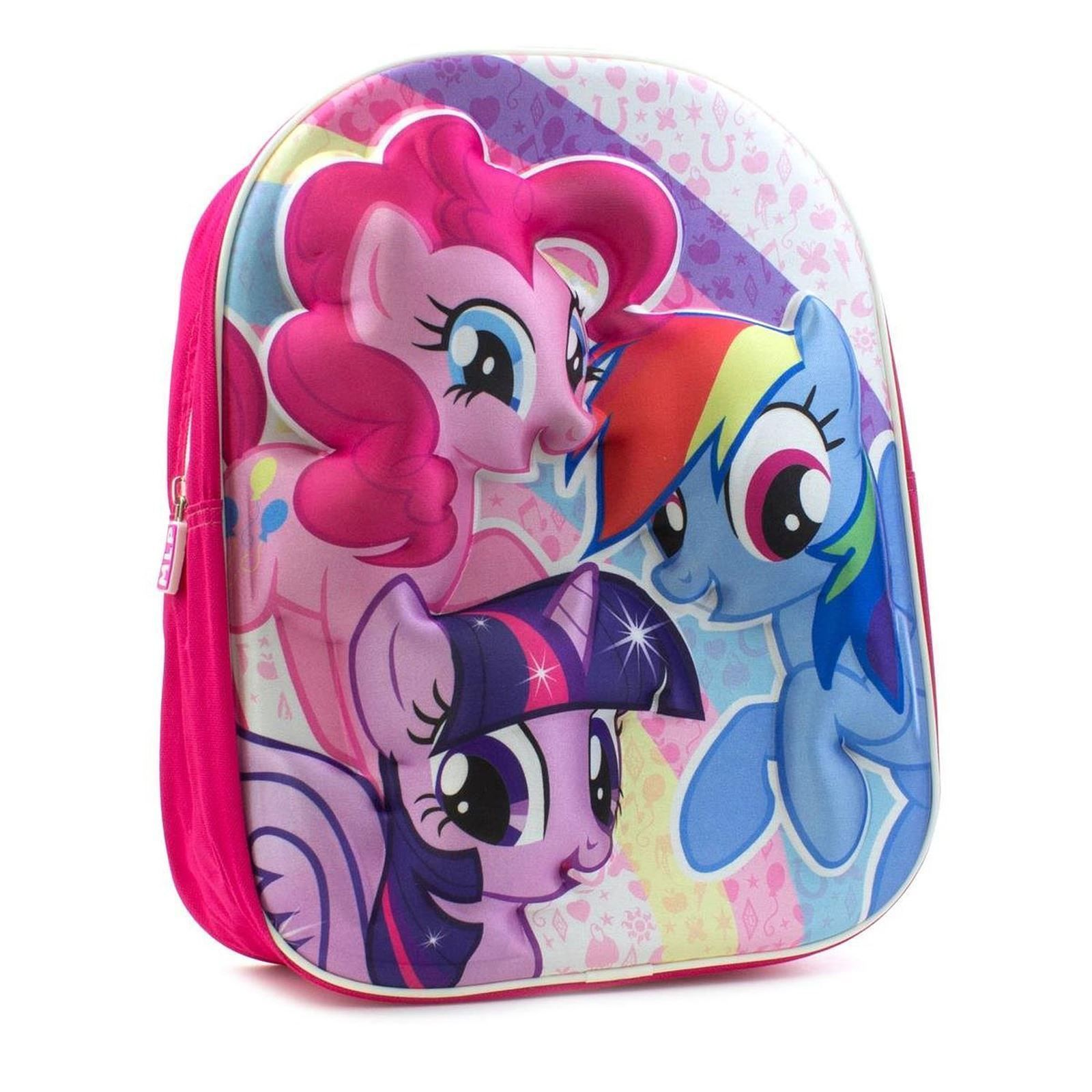 f062c13d06 My Little Pony Pink 3D Girls Backpack Rainbow Dash