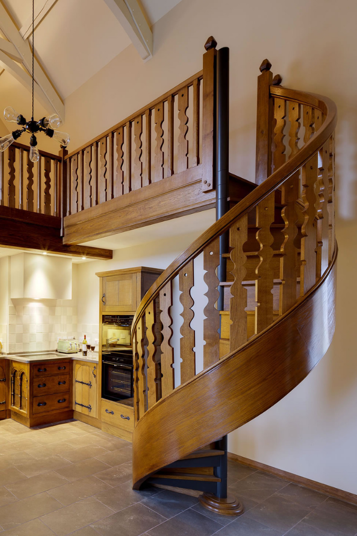 Best We Created The Steel Spiral Stair For This Oak Clad Beauty 400 x 300