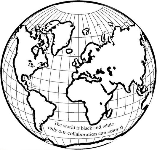 Globe Coloring World Page For Kids To Learn Science Globe Drawing Coloring Pages World Map Coloring Page