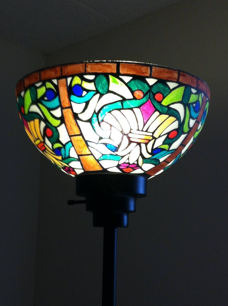 Tiffany Style Lamp Shades Delectable Diy Tiffany Lampshade  Pinterest  Sharpies Tiffany And Glass Decorating Design