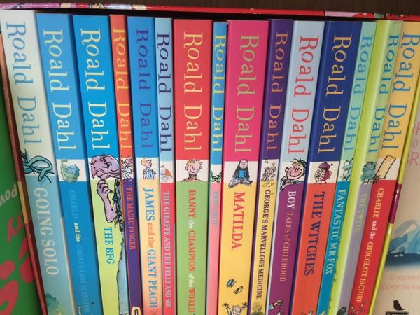 books bought for my kids - classic books with a cheeky 'O'. #legend #dahl  via @devlinarchitect