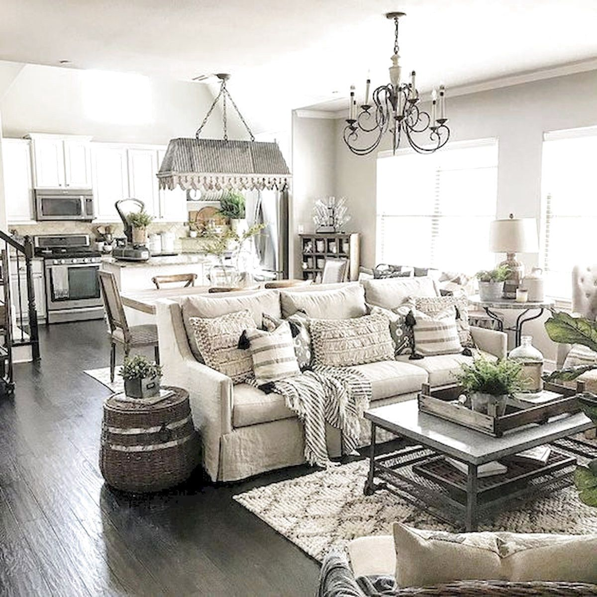 ✓12 Best Farmhouse Living Room Decor Ideas   The Expert Beautiful ...