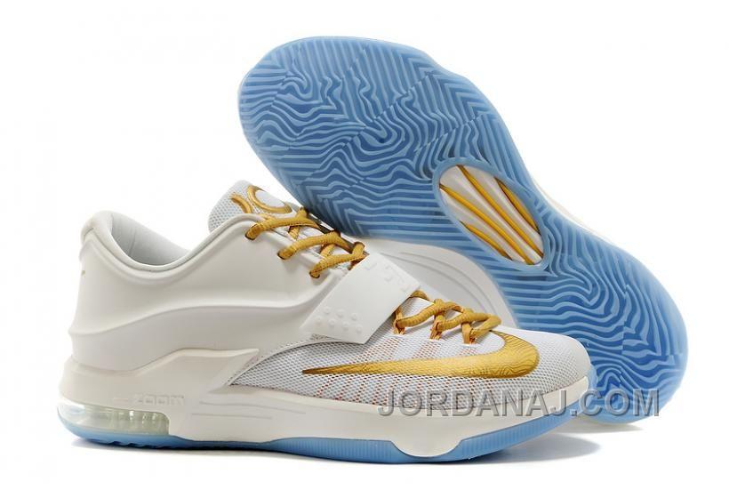 8214f33c2d20 Cheap Nike KD 7 White Metallic Gold Online For Sale