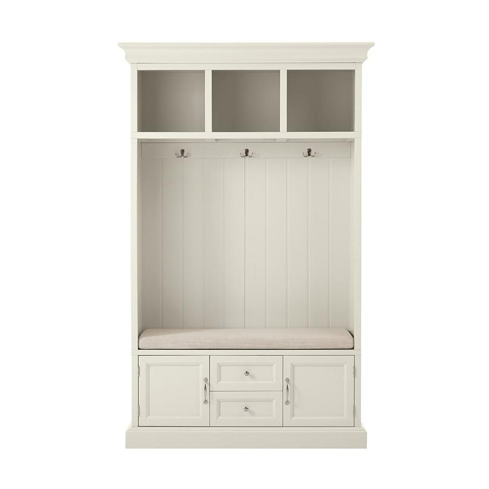 Home Decorators Collection Royce Polar White 49 In Hall Tree In