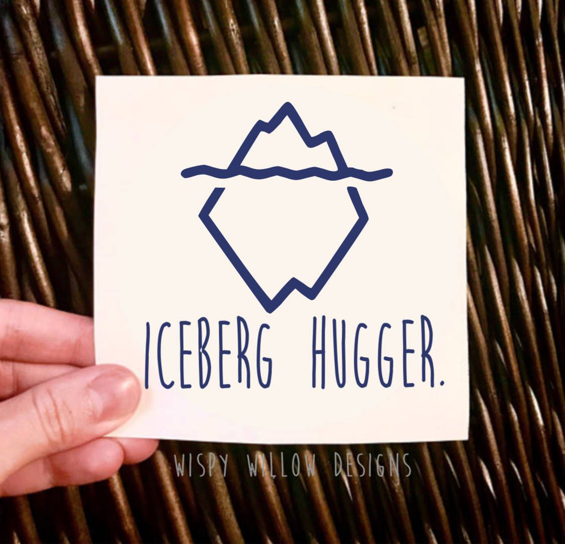 Iceberg Hugger Vinyl Decal Global Warming Decal Car Decal Car Sticker Protest Environment Conservancy Nature Treehugge Vinyl Decals Tree Hugger Huggers [ 1084 x 1126 Pixel ]