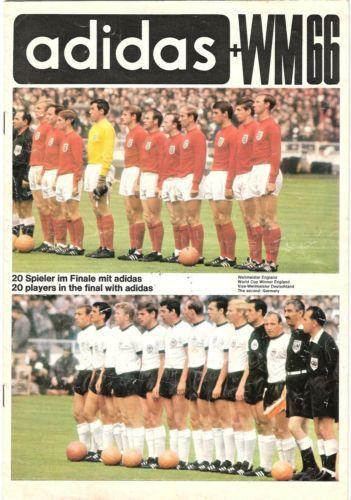 Adidas Brochure 1966 World Cup England World Cup England Football Team 1966 World Cup