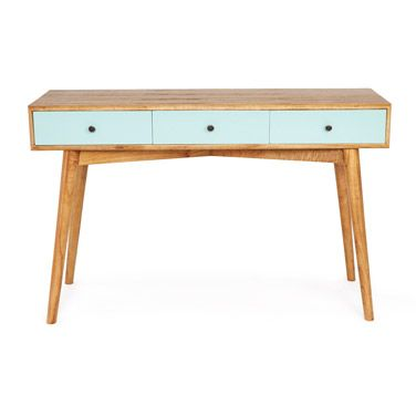 Superbe Aqua Carolyn Donnelly Eclectic Retro Console Table