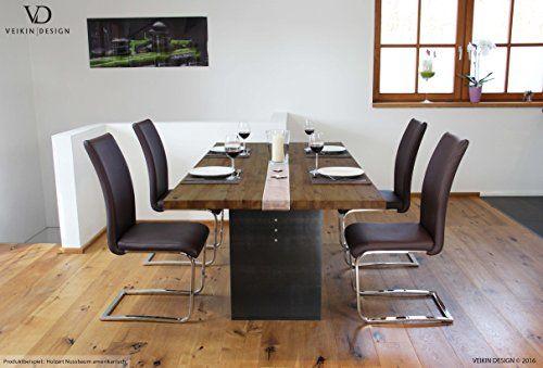 Esstisch Manhattan mit Holztischplatte + Metallfuss Design