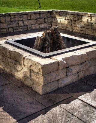 Rosetta Square Fire Pit Kit Fire Pit Landscaping Fire Pit Kit