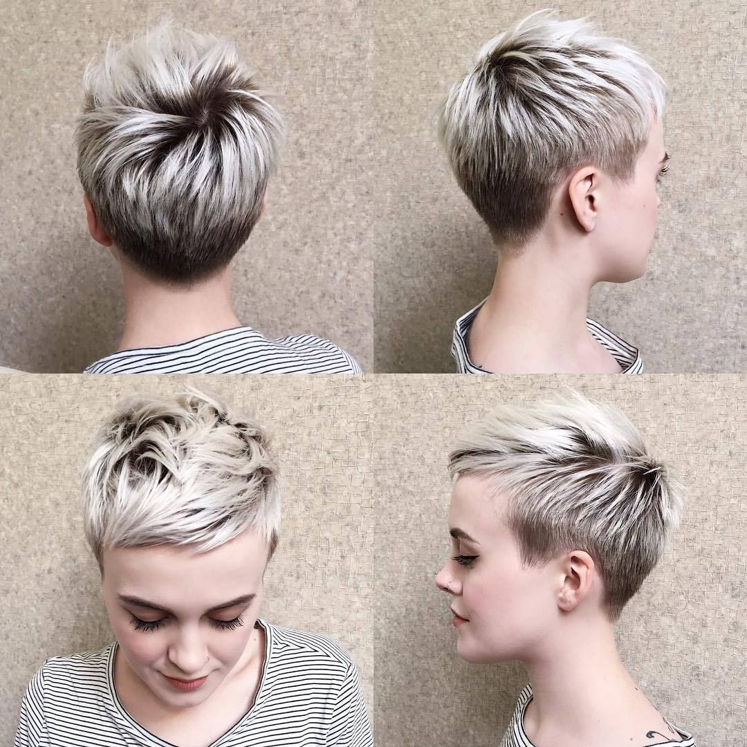 Women hairstyles for round faces undercut short haircuts and pixies