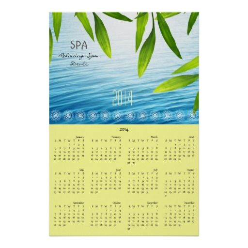 Bamboo leaves personalised calendar 2014