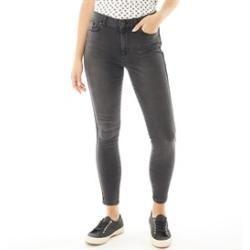 Only You Damen Anne K Skinny Jeans Verblasstes Schwarz Only You